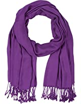 "78"" x 28"" Eco-Friendly Bamboo Rayon Soft Solid Pashmina Shawl / Wrap / Stole - Purple"