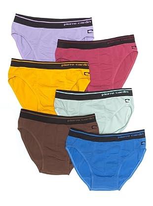 Pierre Cardin Pack 6 Slip Básico (Multicolor 2)