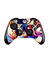 Survival, Action, And Adventure Games Pair Of Vinyl Decal Controller Sticker Skins For Xbox One (Sonic Mustache Man)