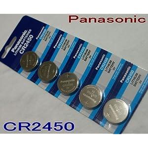 【クリックでお店のこの商品のページへ】Panasonic コイン形リチウム電池 5個入り CR-2450: 家電・カメラ