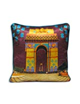 "The Bombay Store PolySilk Cushion Cover - India Gate (Set of 1pc) L 16"" H 16"""
