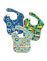 Bumkins Diaper Bags SuperBib 3 Pack (Boy Assortment)