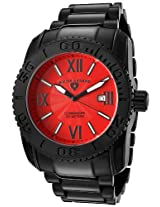 Men'S Commander Red Dial Black Ion Plated Stainless Steel (10059-Bb-55)