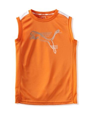 Puma Boys 8-20 Performance Muscle Tee (Pop Orange)