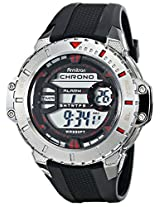 Armitron Sport Men's 40/8334RED Silver-Tone Digital Resin Watch with Black Resin Band