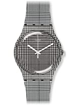 Swatch For The Love Of W Black and White Dial Plastic Strap Unisex Watch SUOB113