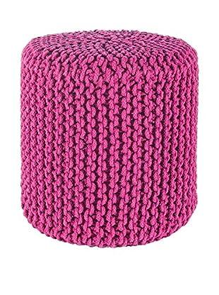 Sofahocker Intreccio pink