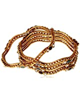 Variation Set Of 4 Twisty Copper Bangle For Women-VDAM0073