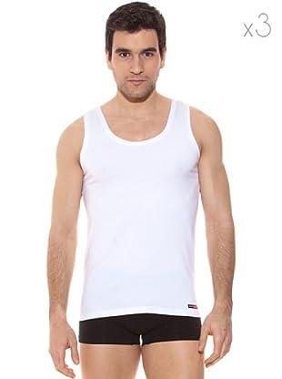 Pierre Cardin Pack 3 Camisetas Tirantes (Blanco)