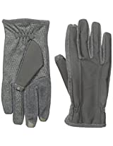 Isotoner SmarTouch 2.0 Fleece Texting Gloves Grey Large