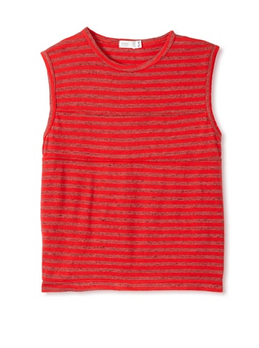 eggi kids Boy's Muscle Tee (High Risk Red Stripe)