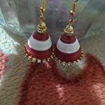 Red Paper Traditional Jhumki Earring
