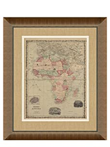 """Johnson and Ward Antique Map of Africa, 1860's, 28"""" x 34"""""""