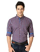 Peter England Multi Checkered Cotton Shirt
