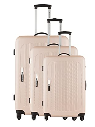 Platinium Set 3 Trolleys 4 Ruedas Tonga (Beige)