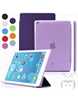 Elite Ultra Thin Smart Flip Foldable Flip Case cover Apple iPad Air 2 (iPad 6) Tablet with Glittering stylus (Sleep/wakeup) (Purple)