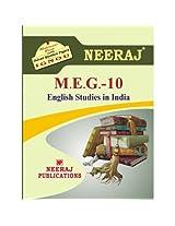 MEG10-English Studies in India (IGNOU help book for MEG-10 in English Medium)