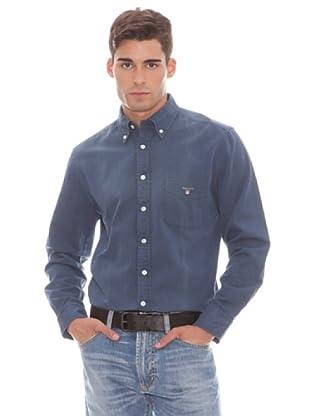 Gant Camisa Lisa (Azul)
