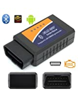 ELM327 Bluetooth OBD2 Vehicle Diagnostic Tool 2.1V for Android , Windows , PC with Warranty