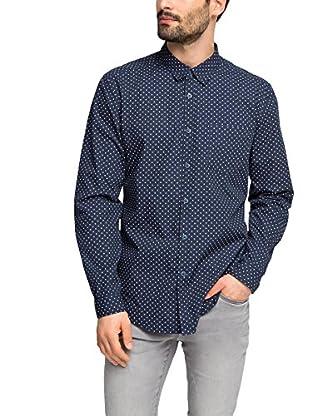 edc by ESPRIT Camisa Hombre  Azul Océano XL