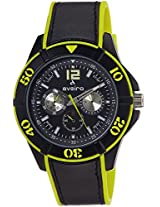 Aveiro Analog Black Dial Men's Watch - AV72BLKYLW