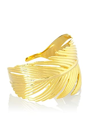 Joanna Laura Constantine Goldtone Intricate Feather Cuff