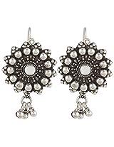 Haat4Art Oxidized 925 SunRay Silver Earrings for Women