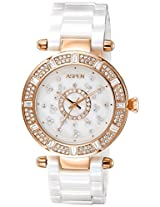 Aspen Ceramic Analog White Dial Women's Watch - AP1641