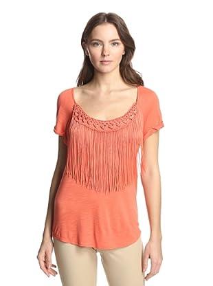 Hale Bob Women's Top with Fringe (Orange)