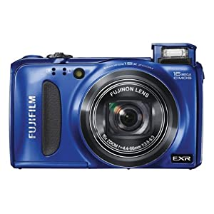 Fujifilm FinePix F660EXR 16MP Point and Shoot Camera (Blue) with 15x Optical Zoom, Memory Card and Camera Case