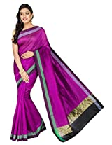 Korni Cotton Silk Banarasi Saree DS-1529- Purple KR0472