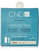 Creative Nail Tips Velocity False Nails, Clear No.8