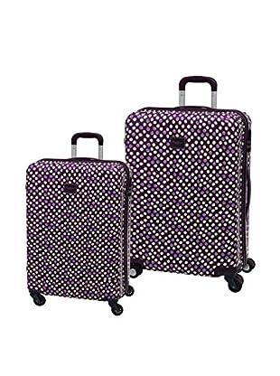 Pepe Jeans Set de 2 trolleys rígidos Lunares Berenjena
