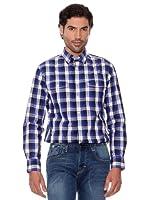 Pedro Del Hierro Camisa Cuadros (Azul Marino)