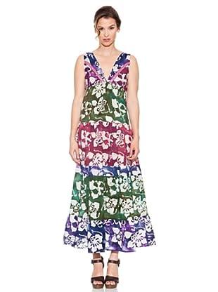 Mahal Vestido con Apliques (Multicolor)