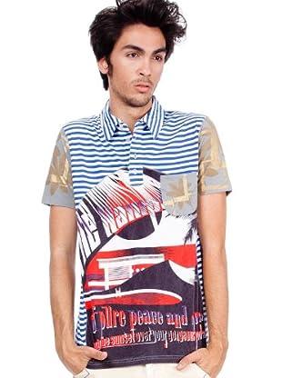 Custo Camiseta Ska Hamptons (Blanco / Azul)
