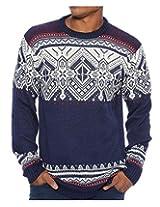 G Zap Men's Men's Pullover Winter Chevron Snowflake Sweater(MENTOP-SWT,DBLA1-2X)
