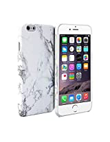 iPhone 6s Case, GMYLE Snap Cover Glossy for iPhone 6S - White Marble Pattern Slim Hard Back Case