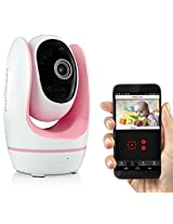 Fosbaby Digital Video Baby Monitor by Foscam - HD 720P, Night Vision, Two-Way Audio, Plug and Play, Lullaby Function, Temperature Monitor, and More (Pink)