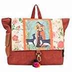 The House Of Tara Canvas Miniature Painting Backpack (Multicolour)