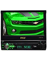 Pyle PLBT72G 7-Inch Single DIN In-Dash Motorized Touchscreen LCD Monitor with DVD/CD/USB/SD, AM/FM/Bluetooth, Built-In GPS with Maps