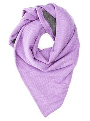 Look Bufanda Bicolor (Púrpura)