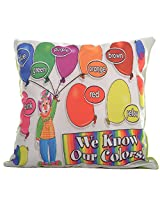 Twisha Joker With Balloons Printed Pillow 12 X 12 X 4 Inch