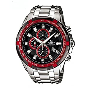 CASIO EDIFICE EF-539d-1A4V DF BLACK & RED DIAL MEN's WATCH