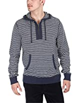 Zobello Men's Hoodie (51008A_Heather Navy White_XX-Large)