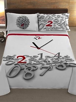 Manterol Cubrecamas Reloj (Rojo)