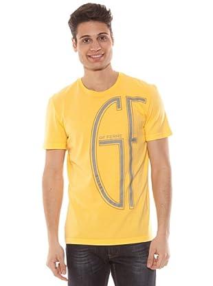Gianfranco Ferré Camiseta Dibujo En Gris (Amarillo)