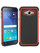 DMG Hybrid Dual Layer Armor Defender Protective Case Cover for Samsung Galaxy A8 (Red)