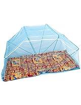 Elegant Single Bed 3*6 Blue color Mosquito Net