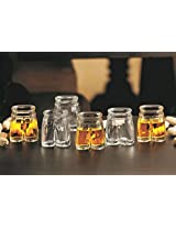 Men Pants clear shot glass set of 6 38 ml